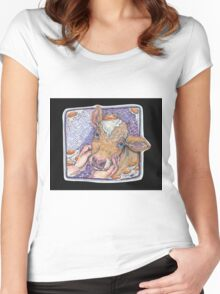 Breakfast cow Women's Fitted Scoop T-Shirt