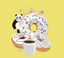Panda & White Donuts Kids Clothes