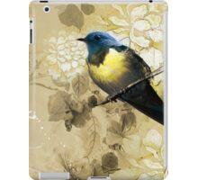 Blue Yellow Thrush Bird - Chinese Painting Art iPad Case/Skin