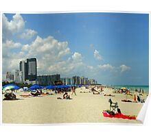 Perspective On The Beach On A Sunny Afternoon Poster