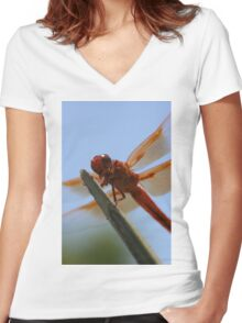 Smiling Dragonfly Iphone Case Women's Fitted V-Neck T-Shirt