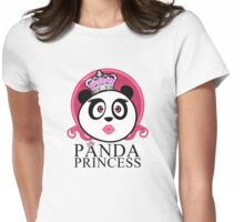 Panda Princess Womens Fitted T-Shirt