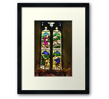 Window All Saints Church- Hawnby #4 Framed Print