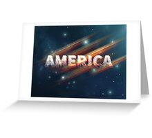America  Greeting Card