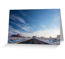 Monument Valley Drive Greeting Card