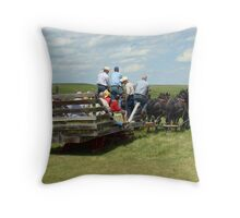 Eight Horse Hitch IV Throw Pillow