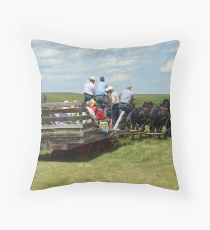 Eight Horse Hitch IV Throw Pillow