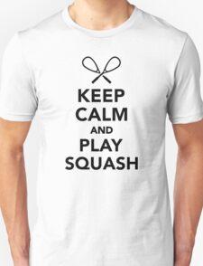 Keep calm and play Squash Unisex T-Shirt