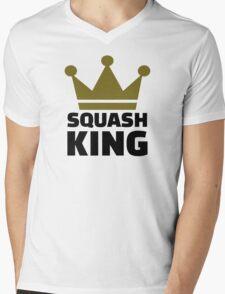 Squash King Mens V-Neck T-Shirt
