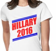Hillary Stripes [Red&Blue] Womens Fitted T-Shirt