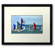 Race Week 091a Framed Print