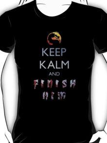 Keep Calm And Finish Him - Tshirts & Hoodies T-Shirt