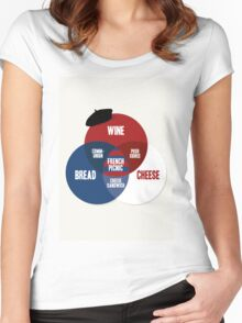 French Picnic Women's Fitted Scoop T-Shirt