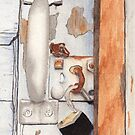 Garage Lock Number Three by Ken Powers
