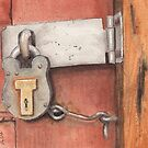 Garage Lock Number Four by Ken Powers