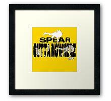 Spear Outta Nowhere! Framed Print
