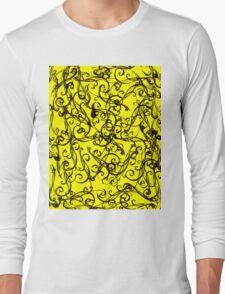Black Swirls Long Sleeve T-Shirt