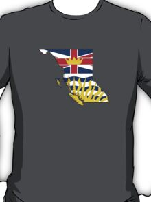 British Columbia Flag Map  T-Shirt