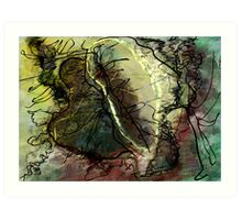 The Return of the Mad Scribbler Art Print
