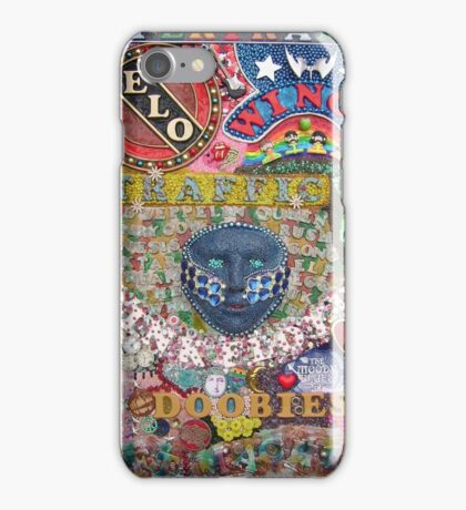 Psychedelic Jukebox -  taken from original artwork by Paul Bonser iPhone Case/Skin