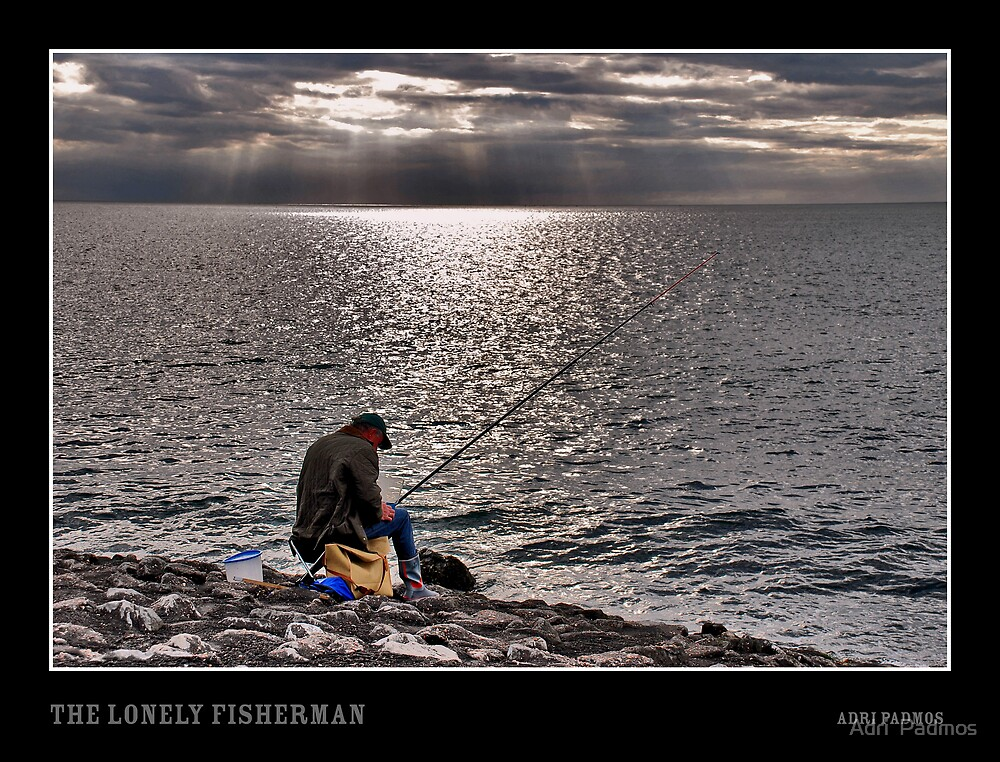 The lonely fisherman by Adri  Padmos