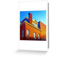 The Sky Paints a Building Greeting Card