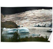 The Mendenhall Glacier Poster