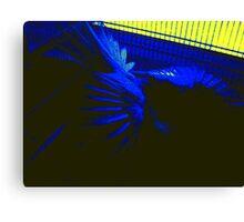 A Blue Teil Bow  Canvas Print