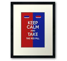 Keep Calm Matrix Framed Print