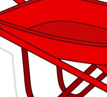 So much depends upon a red wheelbarrow Sticker