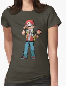 Pokemon Trainer Red Womens Fitted T-Shirt
