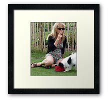 Curious Dog Framed Print