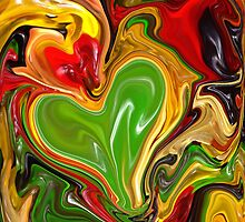 cool rainbow colors valentine heart gummy candy by lfang77
