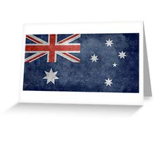 The National flag of Australia, retro textured version (authentic scale 1:2) Greeting Card