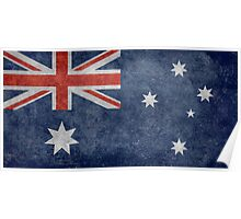 The National flag of Australia, retro textured version (authentic scale 1:2) Poster