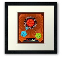 Flu wars Framed Print