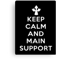 Keep Calm And Main Support - Tshirts & Hoodies Canvas Print