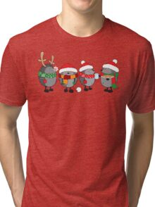Christmas hedgehogs Tri-blend T-Shirt