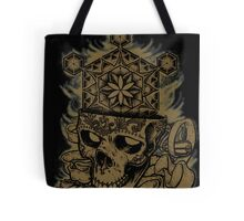 Flower of Life Sugar Skull - Gold Tote Bag