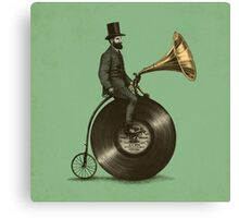 Music Man (green colour option) Canvas Print