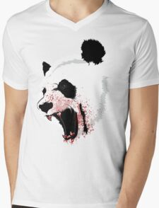 Panda Ladies Mens V-Neck T-Shirt