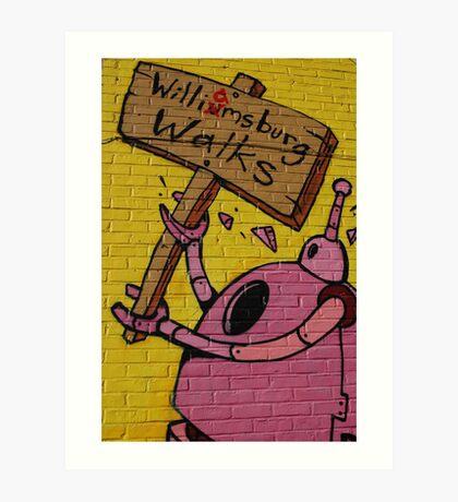 Williamsburg walks Art Print