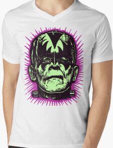 FranKISStein Rock Monster Mens V-Neck T-Shirt