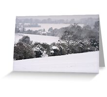View Across Langley Vale Greeting Card