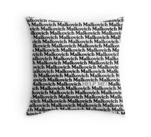 Lost in a Crowd of Malkovich Throw Pillow
