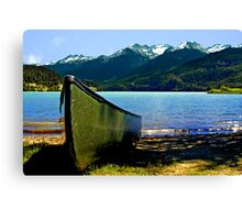 Row Away Canvas Print