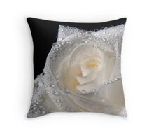 White Diamonds Throw Pillow