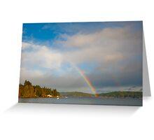 Hood Canal rainbow Greeting Card