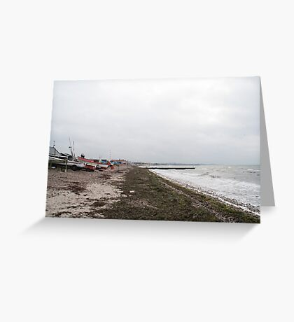The beach at Råå, Sweden, in winter Greeting Card