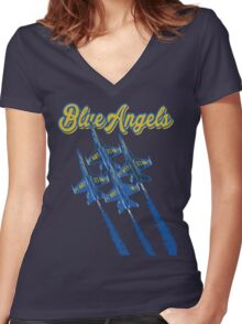 Blue Angels v2 Women's Fitted V-Neck T-Shirt